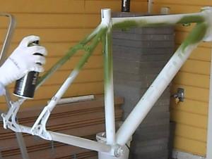 peinture cadre de vélo