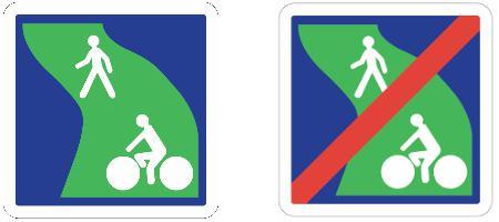 Ce panneau indique une signalisation d'une voie verte